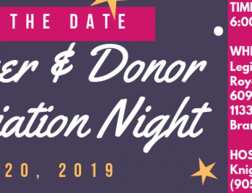 Volunteer and Donor Appreciation Night